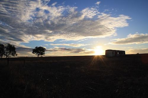Coucher de soleil Australie