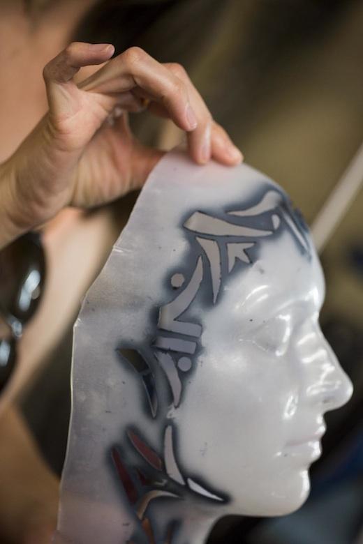 Coulisse Amaluna Cirque du Soleil - Masque tatouage