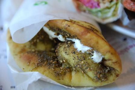 Zaatar and Labneh Manouche