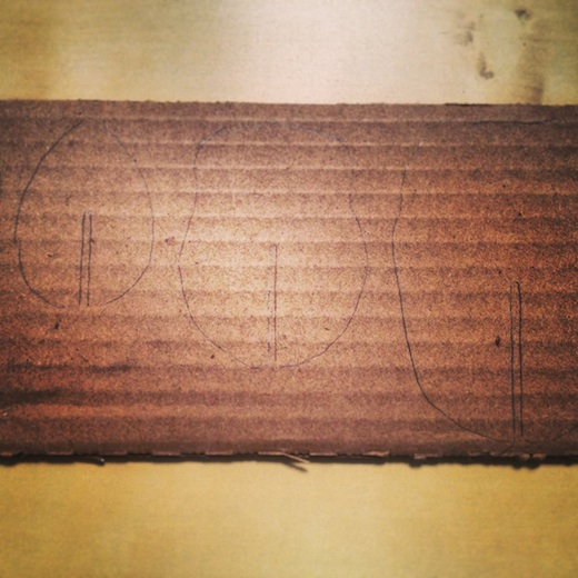 diy tete de cerf carton progression 1
