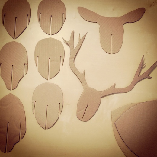 diy tete de cerf carton progression 2