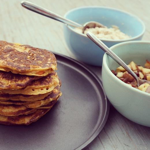 recette facile pancake légumes montréal