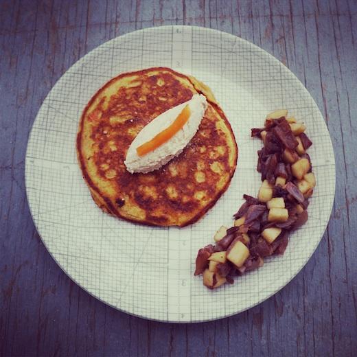 recette pancake légumes montreal