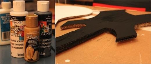peinture-acrylique-guitare-carton-lumineuse