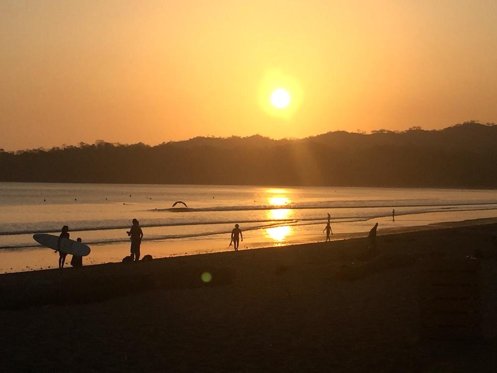 Panama Playa Venao Surf coucher du soleil