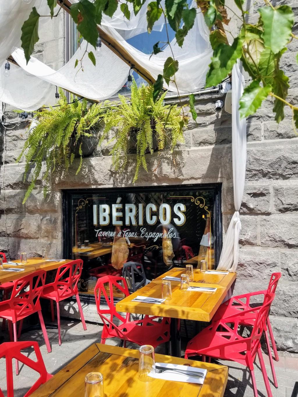 ibericos terrasse montreal restaurant espagnol